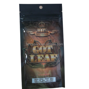 Three Side Seal Bag Clear Customized Plastic Small got Leaf Rolling Tobacco Pouch Zipper Bag