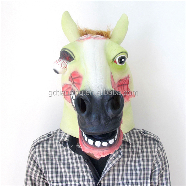 mask latex Halloween Costume Theater Prop High quality horse Mask