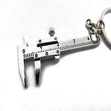 Vehicle Car-styling Metal Movable Vernier Caliper Ruler Model  Keychain Key Chain Keyring Keyfob Tool Gift