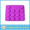 FDA standard 14 dog paw print microwave oven safe bpa free cake jelly soap silicone pastry molds