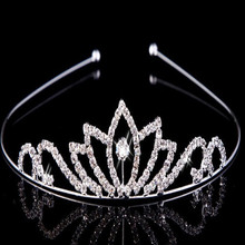 alibaba wholesale simple design party wedding bulk crystal princess rhinestone tiaras