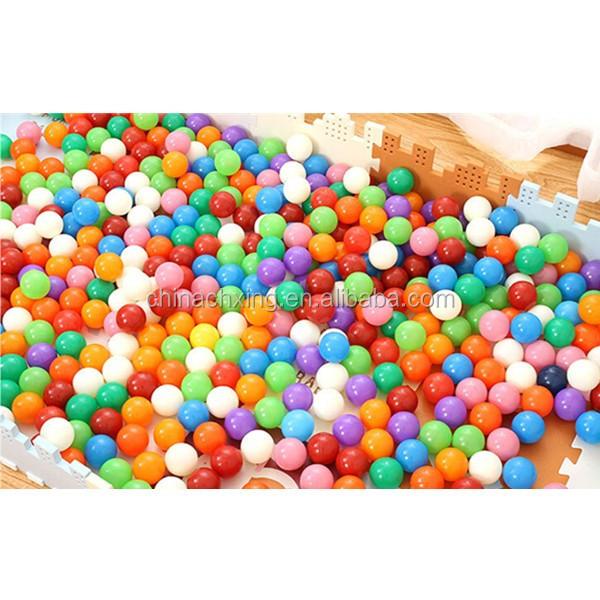 Blue color 8cm bulk plastic balls bulk ball pit balls for Ball pits near me