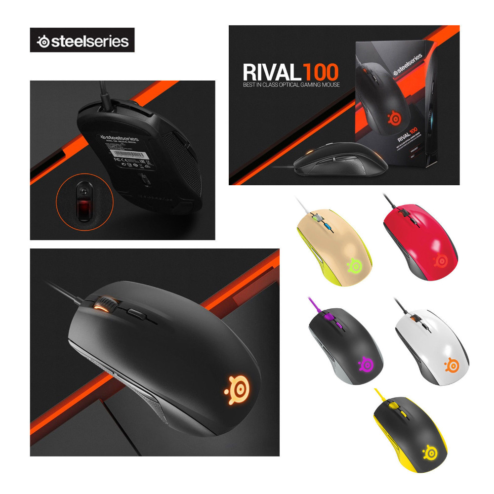 Brand New SteelSeries Rival 100 Gaming Mouse Mice USB ...