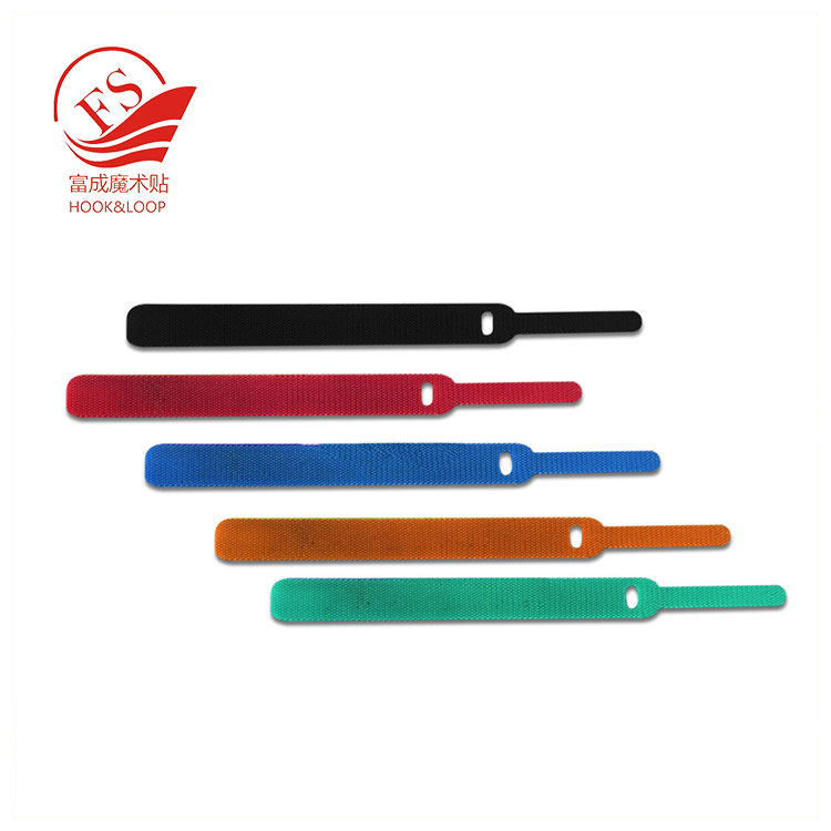 Colorful stainless steel hook loop magic cable ties with label custom