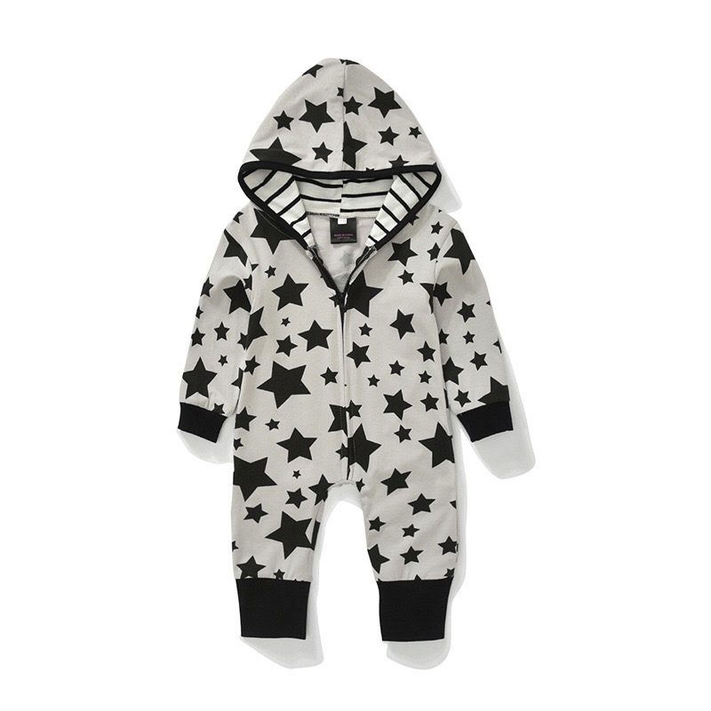 Boys' Baby Clothing Newborn Infant Baby Kids Boy Hooded Cotton Rompers Baby Clothing Jumpsuit Child Boy Clothes Harem Pants Demand Exceeding Supply Bodysuits & One-pieces