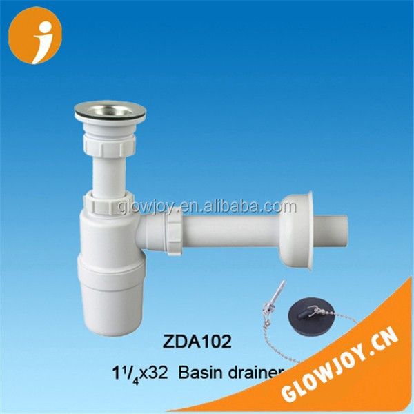 (GJ-ZDA102) plastic sink drainer with water trap