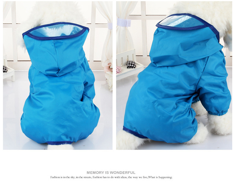 6 Color Hooded Pet Dog Raincoats Waterproof Clothes For Small Dogs Chihuahua Yorkie Dog Raincoat Poncho Puppy Rain Jacket XS-XXL
