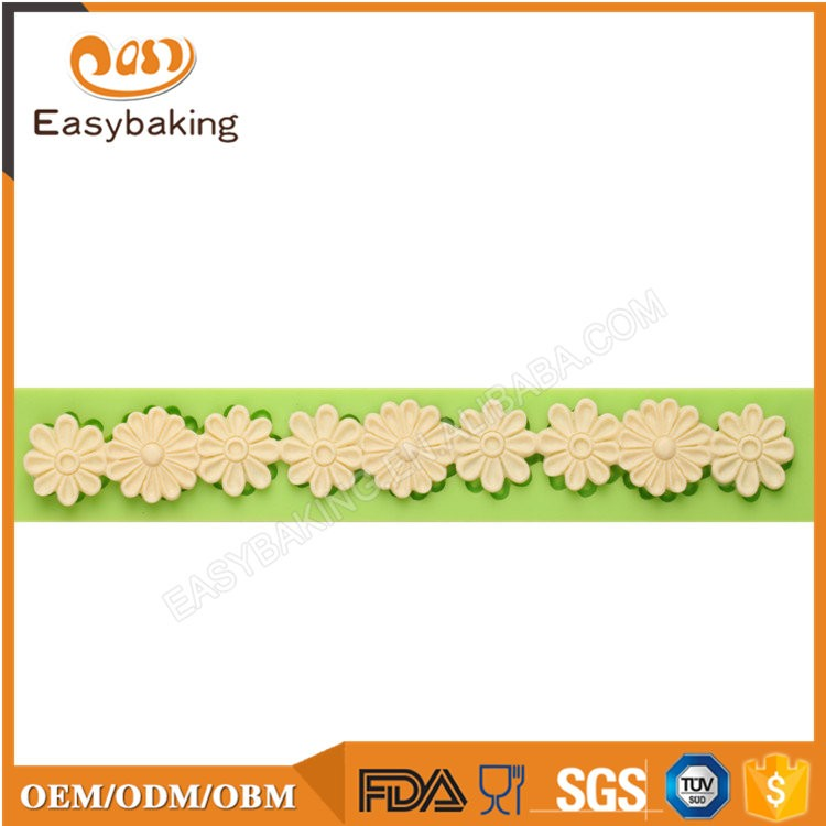 ES-4310 Flower Fondant Mould Silicone Molds for Cake Decorating