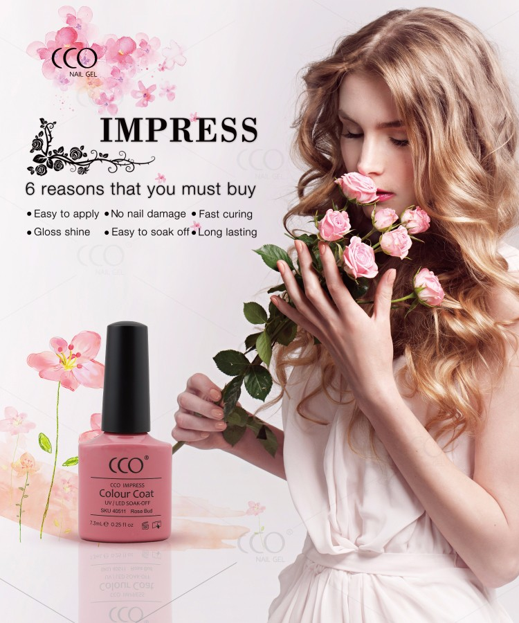 CCO IMPRESS 7.3 ml honey girl gel nail polish Soak Off nail gel paints sales