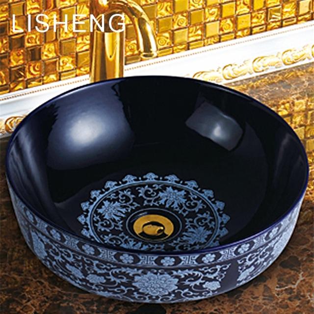 Simple And Generous Round Elegance Polishing Art Porcelain Sinks Bathroom  Sink Decals Basins Wash