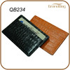Luxury crocodile skin card holder, embossed croco leather card holder, exotic leather products