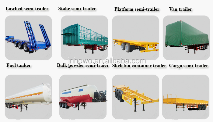 2 Axle Hydraulic Car/vehicle Carrier/car Transport Semi Truck ...