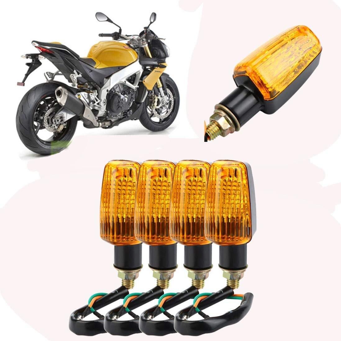 Quaant Car LED Light,4 X Universal Motorbike Motorcycle Turn Signal Indicators Turning Lights Orange Halogen Newest 12V Bright Motorcycle Signal Lamp (Orange)