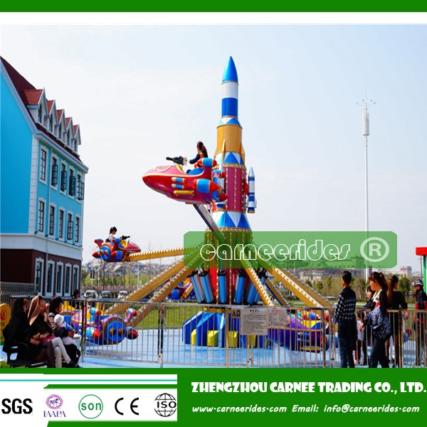 Theme park kids airplane games outdoor air plane ride children rotary game Self Control Plane