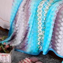 DMlqk385----wholesale summer hot sale fashion family blanket cheap polyester blanket