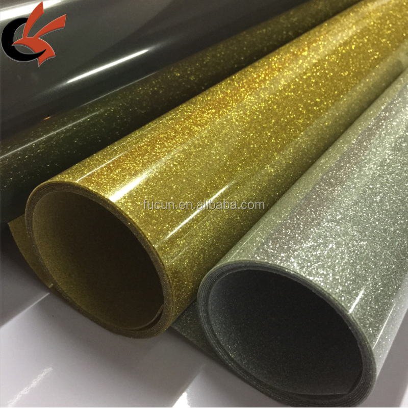 Easy to Weed hot sale color silver gold <strong>black</strong> <strong>glitter</strong> heat transfer <strong>vinyl</strong>
