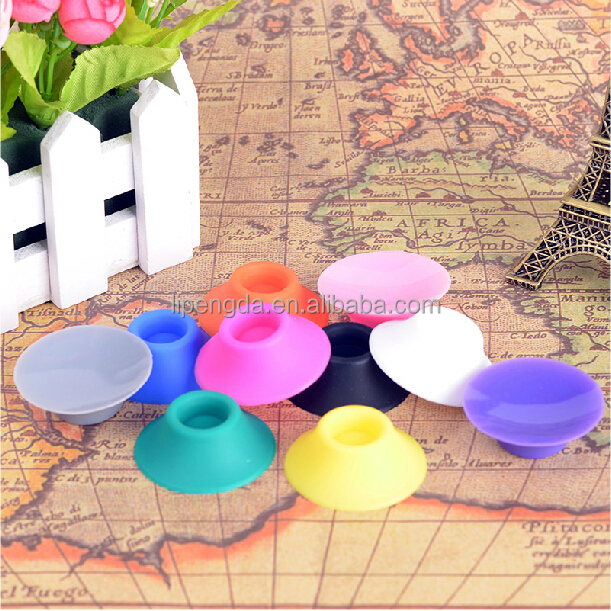 Nice design portable electronic cigarette silicone sucker stand, e cig cigar cigarette battery rubber base in stock