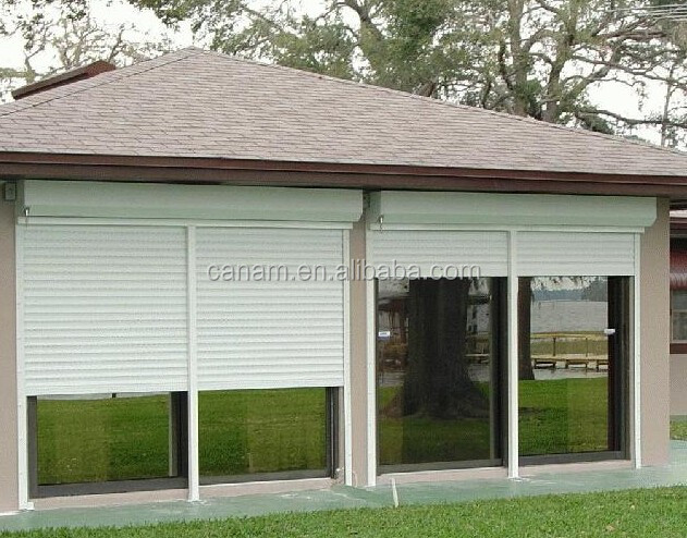 Residential electric aluminum roller shutter garage door