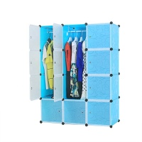 12 cubes modular plastic cabinet wardrobe design for bedroom