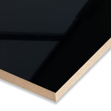 Glossy black PET mdf board for furniture mirror black effect
