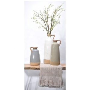 Nordic simple style pottery big vases luxury flower porcelain vase for home decoration