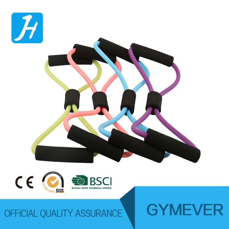 2 pieces 8 Shaped Resistance Loop Band Tube for Yoga Fitness Pilates Workout Exercise Fitness Equipment Chest Developer