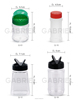 2016 new style factory supplier price 50ml-1000ml pet plastic spice bottle
