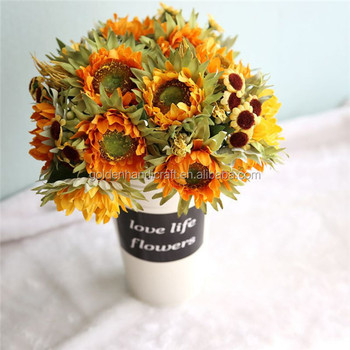 real touch artificial sunflowers bouquet for home decoration buy