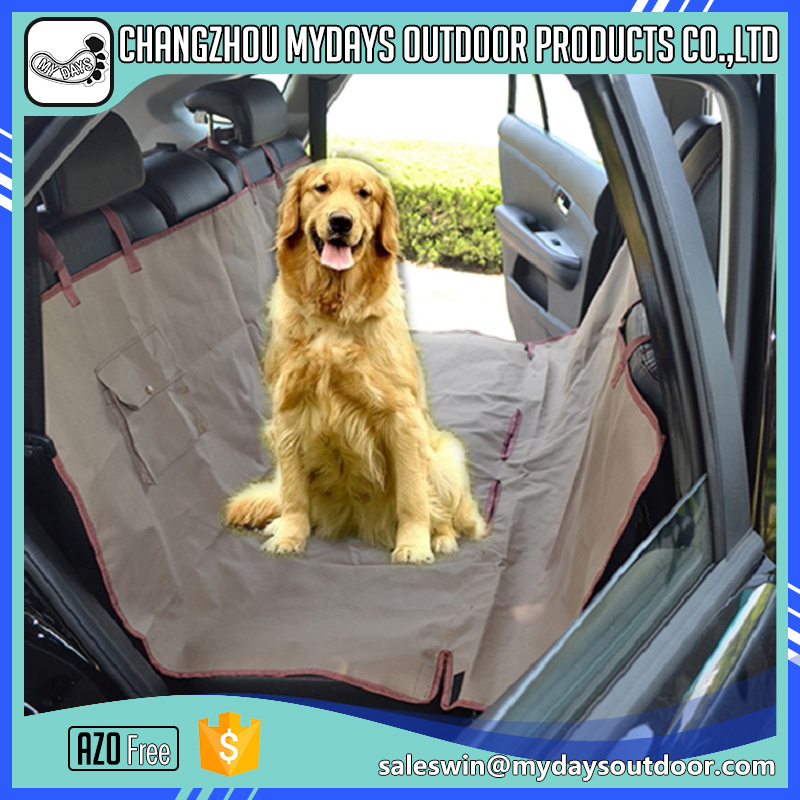 Eco-friendly back pet car seat covers for dogs with pockets