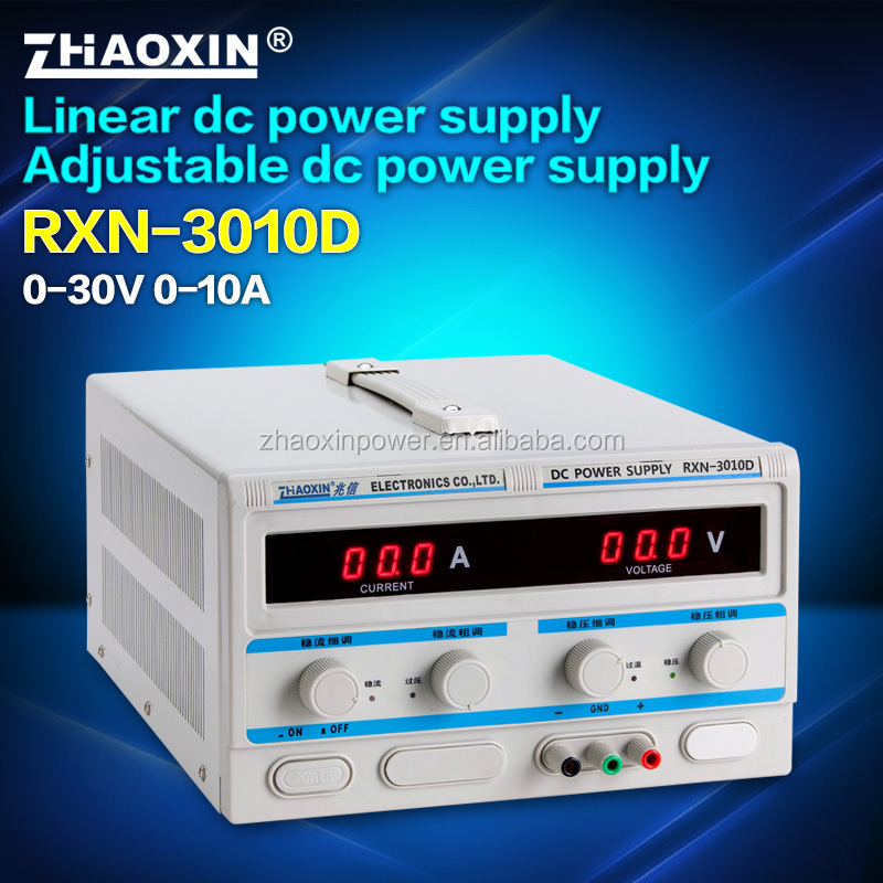 30V 10A RXN-3010D Zhaoxin adjustable digital display linear dc power supply with CE approved