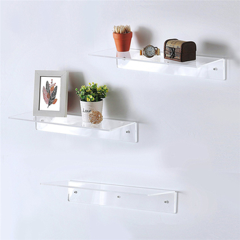 Clear Acrylic Floating Shelves Wall