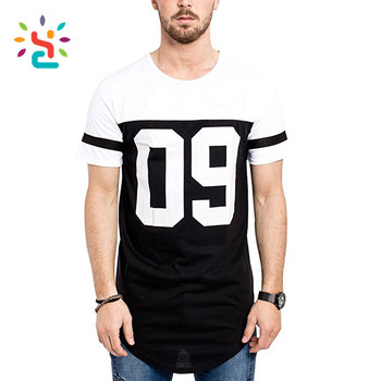 0effbf28843c1 T shirts custom printing arm stripes with side Oversize Panel tees Men s  streetwear Long shirt Long