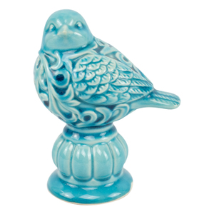 Gorgeous design textured curved home decoration small ceramic bird ornaments