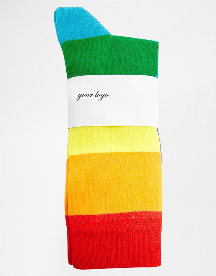 3 Pack with Rainbow Design man sports sock