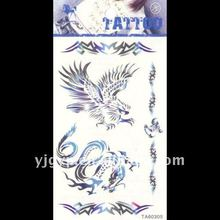 Hot selling! 2011 non-toxic water Transfer elegant eagle with dragon temporary body tattoo sticker
