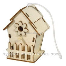 new design laser carved cut engraved custom wooden wholesale cheap bird nest wood craft bird houses Alibaba China