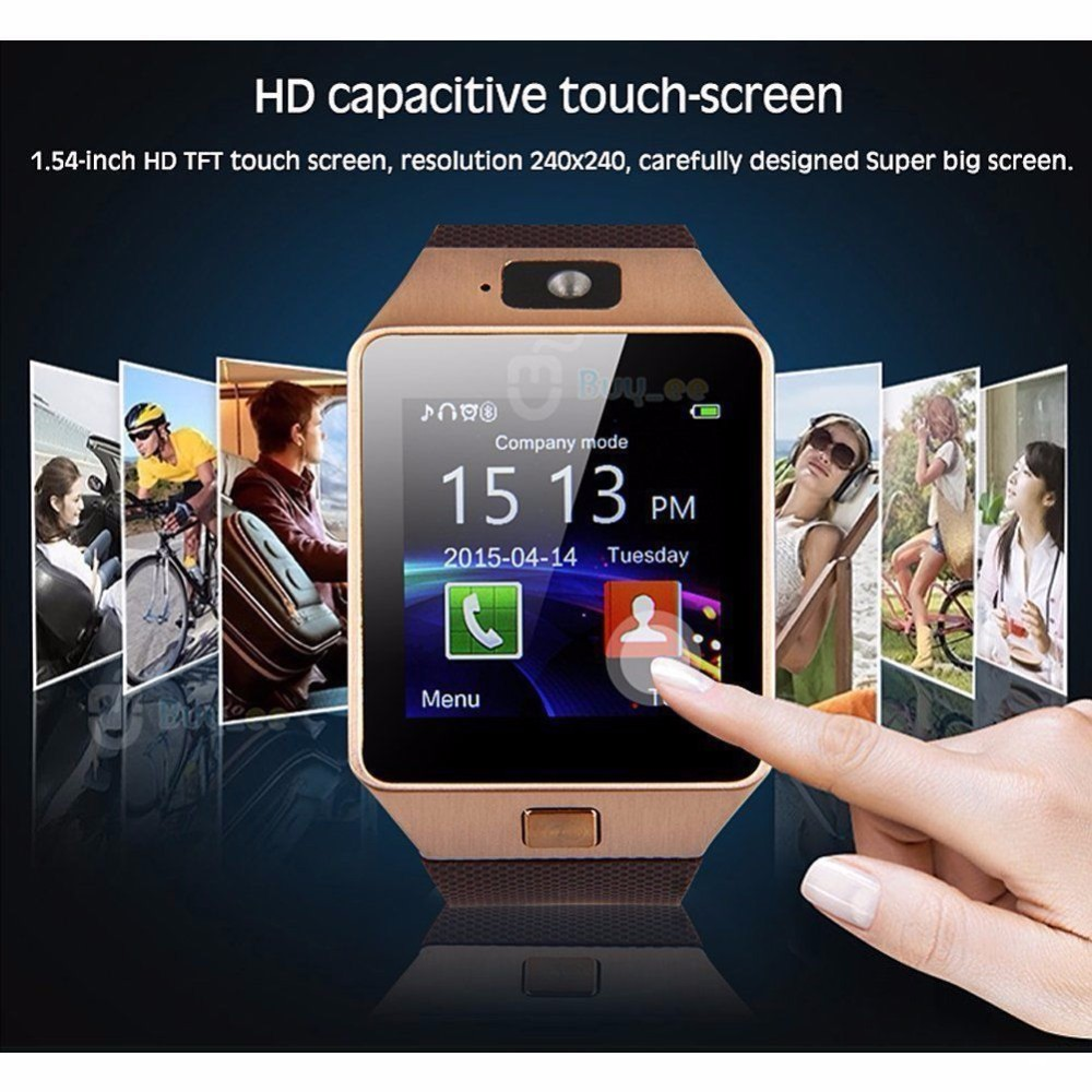 Special offer touch screen support android dz09 smart watch with camera and sim card