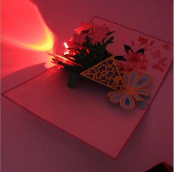 3d pop up greeting card postcards happy birthday cake music led 3d pop up greeting card postcards happy birthday cake music led lighting handmade paper craft cards m4hsunfo