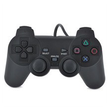 Wired joystick for PS2 controller color black
