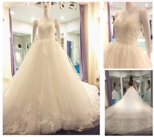 Guangzhou Wedding Dress Factory Sweetheart Lace Appliqued Puffy Princess Ball Gown Dresses Bridal 2016