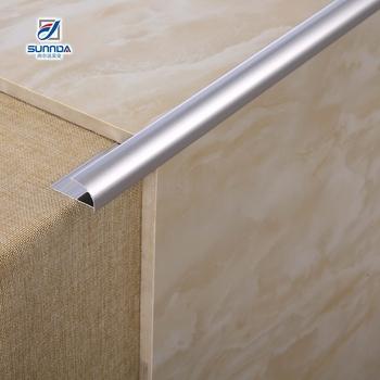 10mm Strip Corner Bullnose Round Edge Silver Beading Steel Aluminum Pvc Trim For Bath Ceramic Quarter