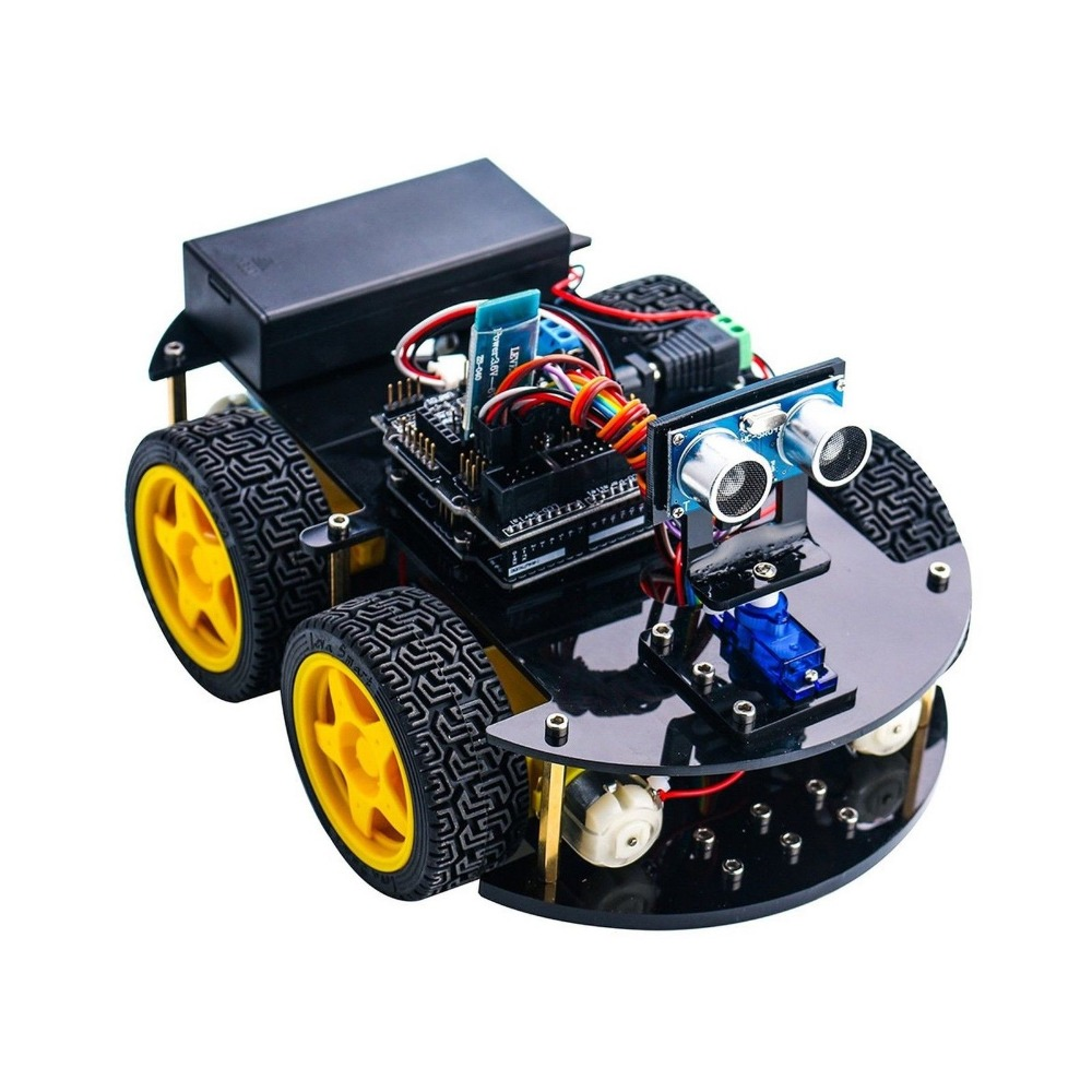 2017 Elego UNO R3 Project Smart Robot Car Kit with Four-wheel Drives Link Tracking Module Ultrasonic Sensor