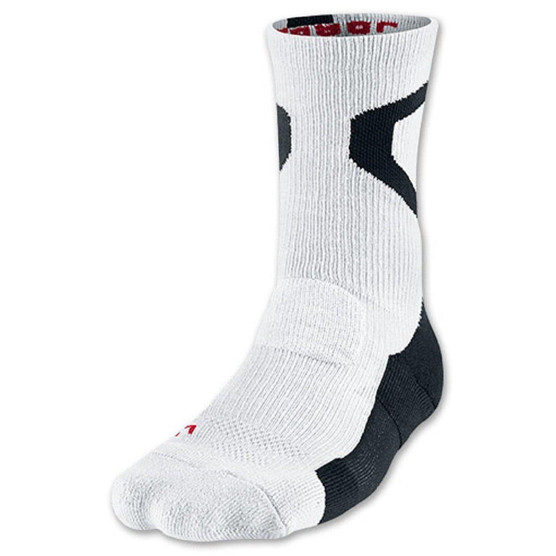 1194d90198c1 Get Quotations · Nike Jordan AJ Jumpman Dri-FIT Men s Crew Socks-Medium  White Black