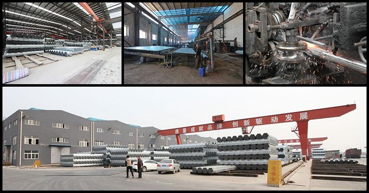 galvanized pipe factory