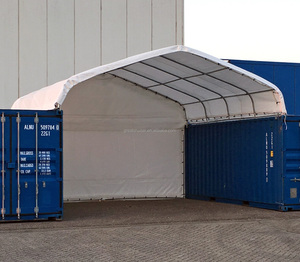 Portable Powerful Prefabricated Steel frame PE or PVC Container Awning with CE Certificate