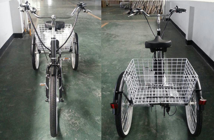 2015 new model three wheel seven speeds Tricycle with 36V battery,250Wmotor GW 7019E