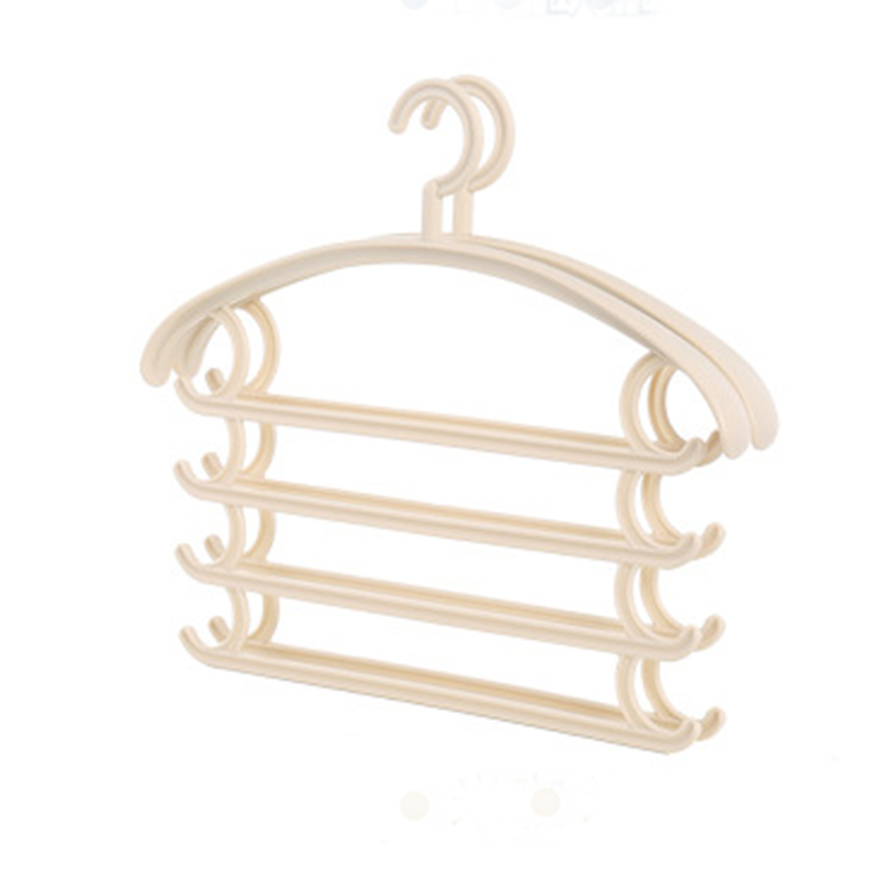 New type plastic pants hangers trouser hanger with four layers