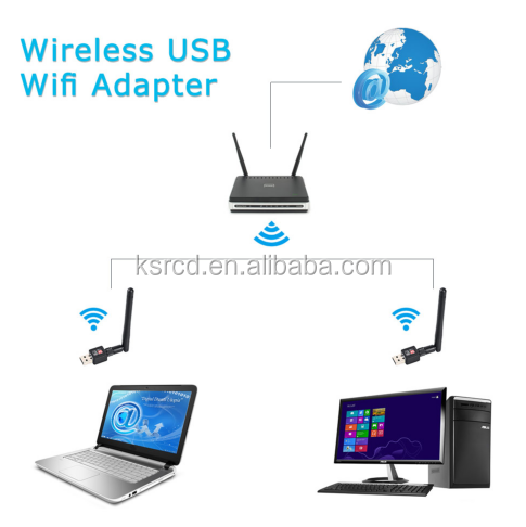 150Mbps Ralink RT5370 USB2.0 Wireless Network Card/USB WiFi Antenna Android USB WiFi Adapter