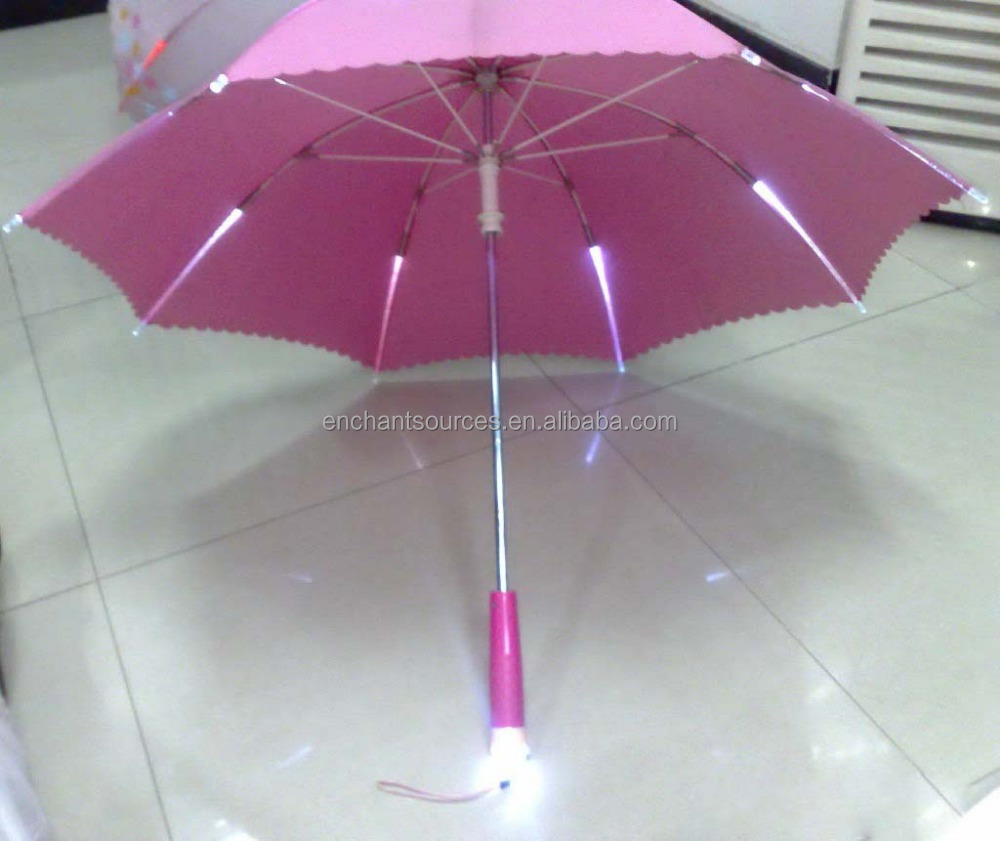 Hot! ! led colorful flash light umbrella