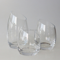 Glass Votive Holders slant mouth Candle Tealight Candles Organizer Holder Home Accent Decor